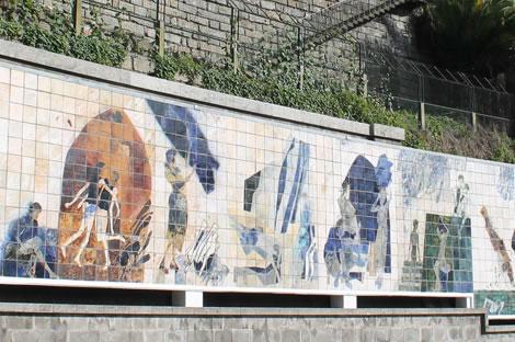 """""""Ribeira Negra"""" panel by Júlio Resende"""